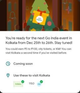Kolkata Event Answers {Google Pay Go India Game}