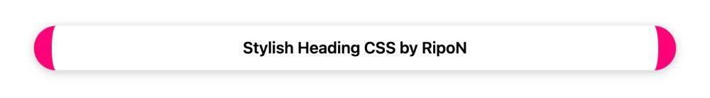 Stylish Heading CSS