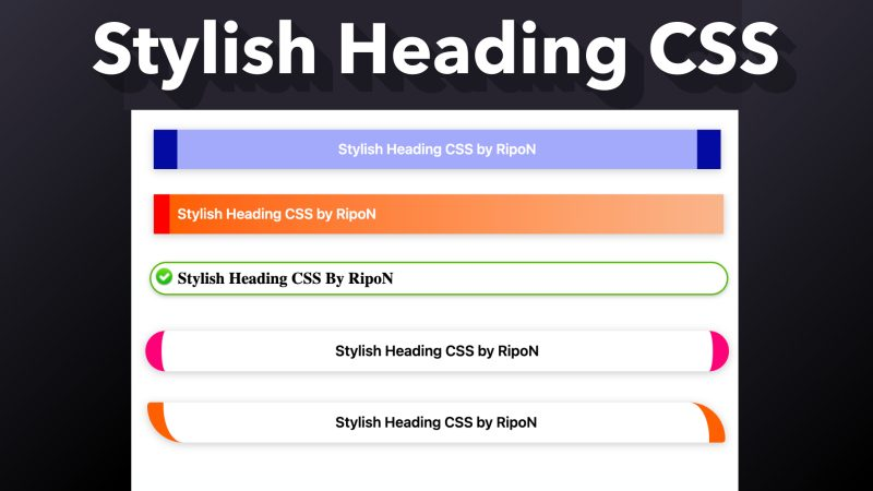 Stylish Heading CSS for WordPress & Blogger